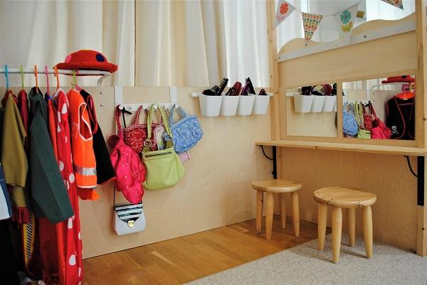 Verkleidungsecke im Kindergarten